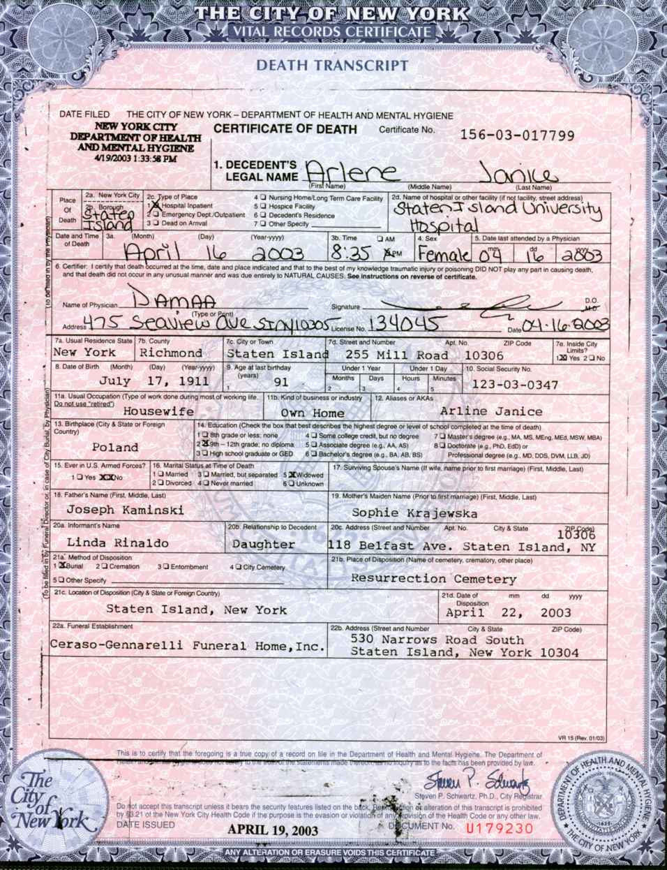 New york birth certificate example pictures to pin on pinterest descendants yadclub Images