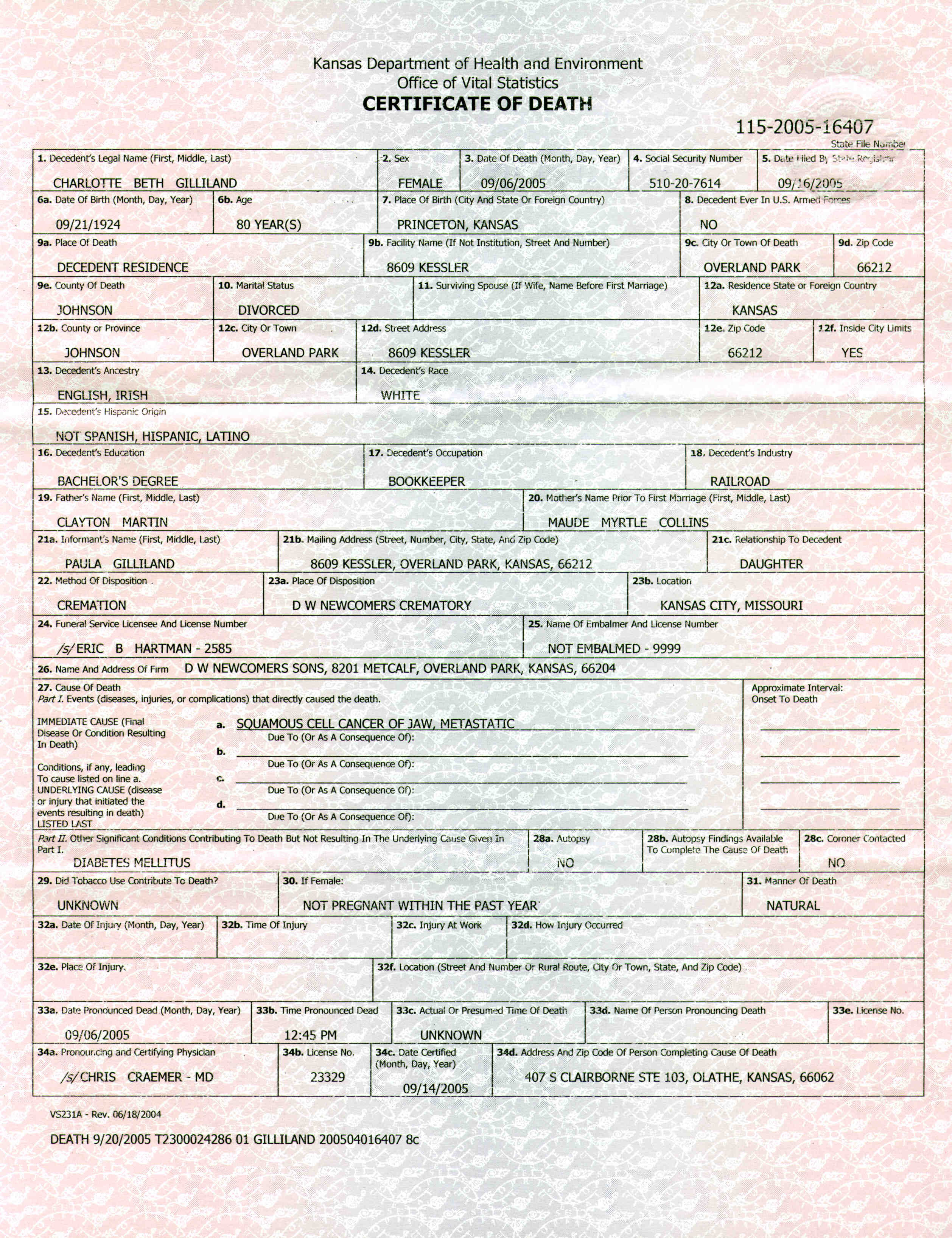 Kansas Counties Birth Certificate Death Vital Records Inducedfo